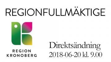 Kronobergs regionfullmäktige 20 juni 2018