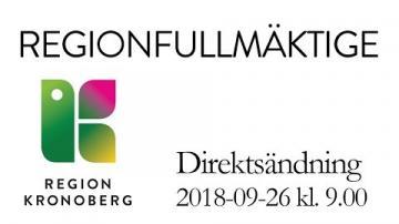 Regionfullmäktige 26 september 2018