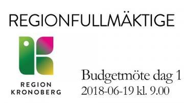 Regionfullmäktiges budgetmöte dag 1, 19 juni 2018
