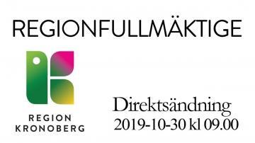Regionfullmäktige 30 oktober 2019