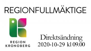 Regionfullmäktige 29 oktober 2020