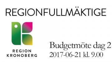 Regionfullmäktiges budgetmöte 21 juni 2017