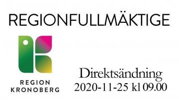 Regionfullmäktige 25 november 2020
