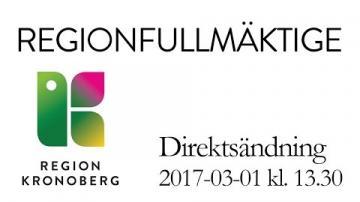 Regionfullmäktige 1 mars 2017