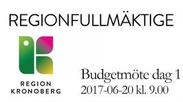 Regionfullmäktiges budgetmöte 20 juni 2017