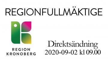 Regionfullmäktige 2 september 2020