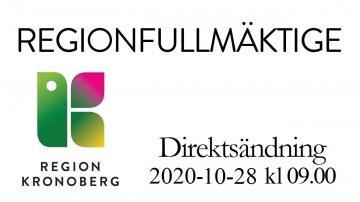 Regionfullmäktige 28 oktober 2020